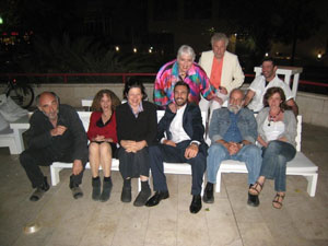 Friends and family in Tel Aviv